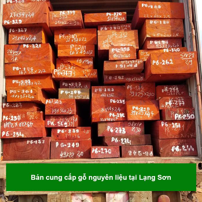 Bán cung cấp gỗ nguyên liệu tại Lạng Sơn